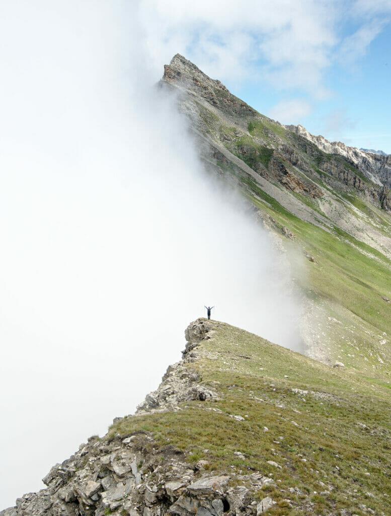 brouillard et arrête