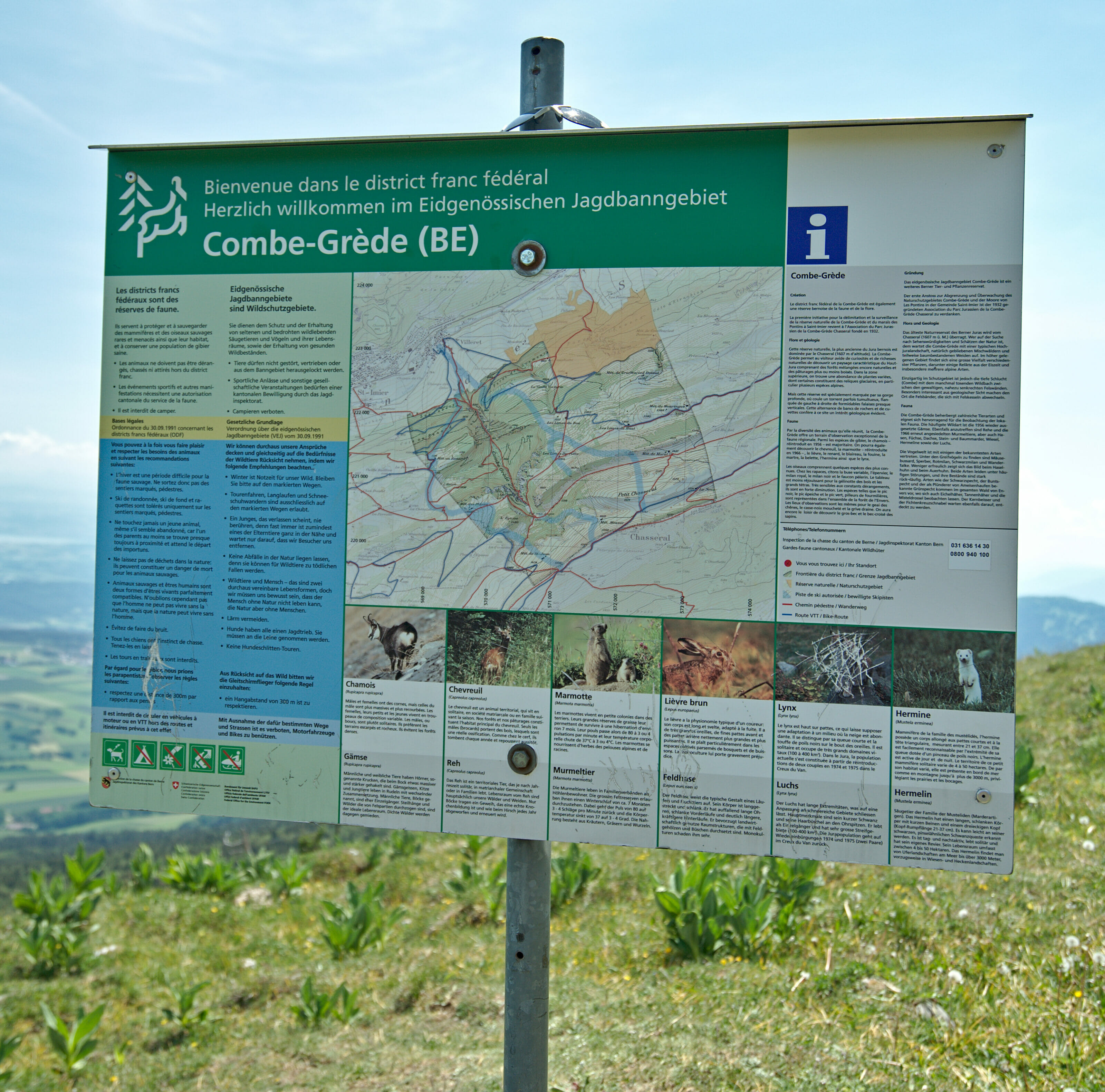 reserve du chasseral carte