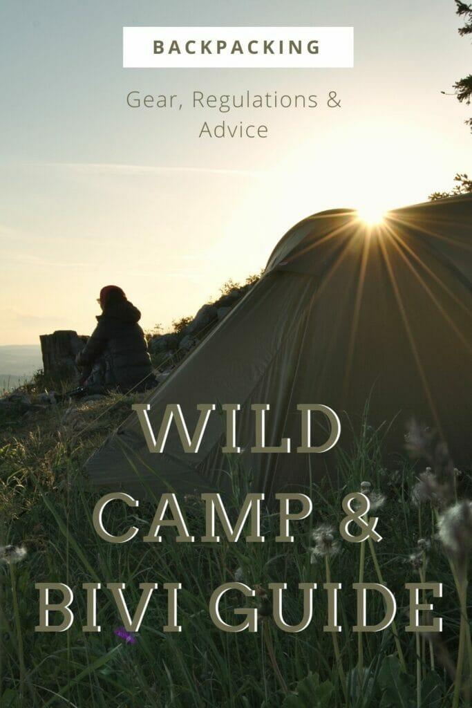 wild camping bivouac