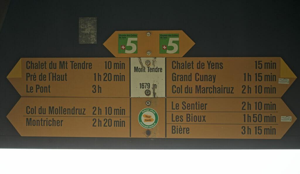 panneau suisse rando