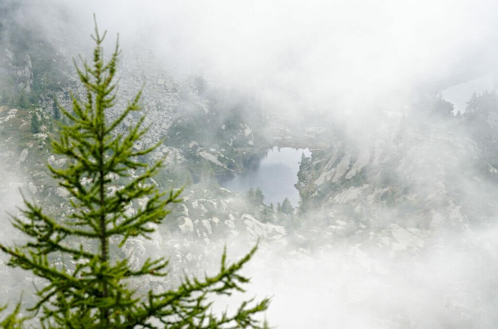 brume et lac