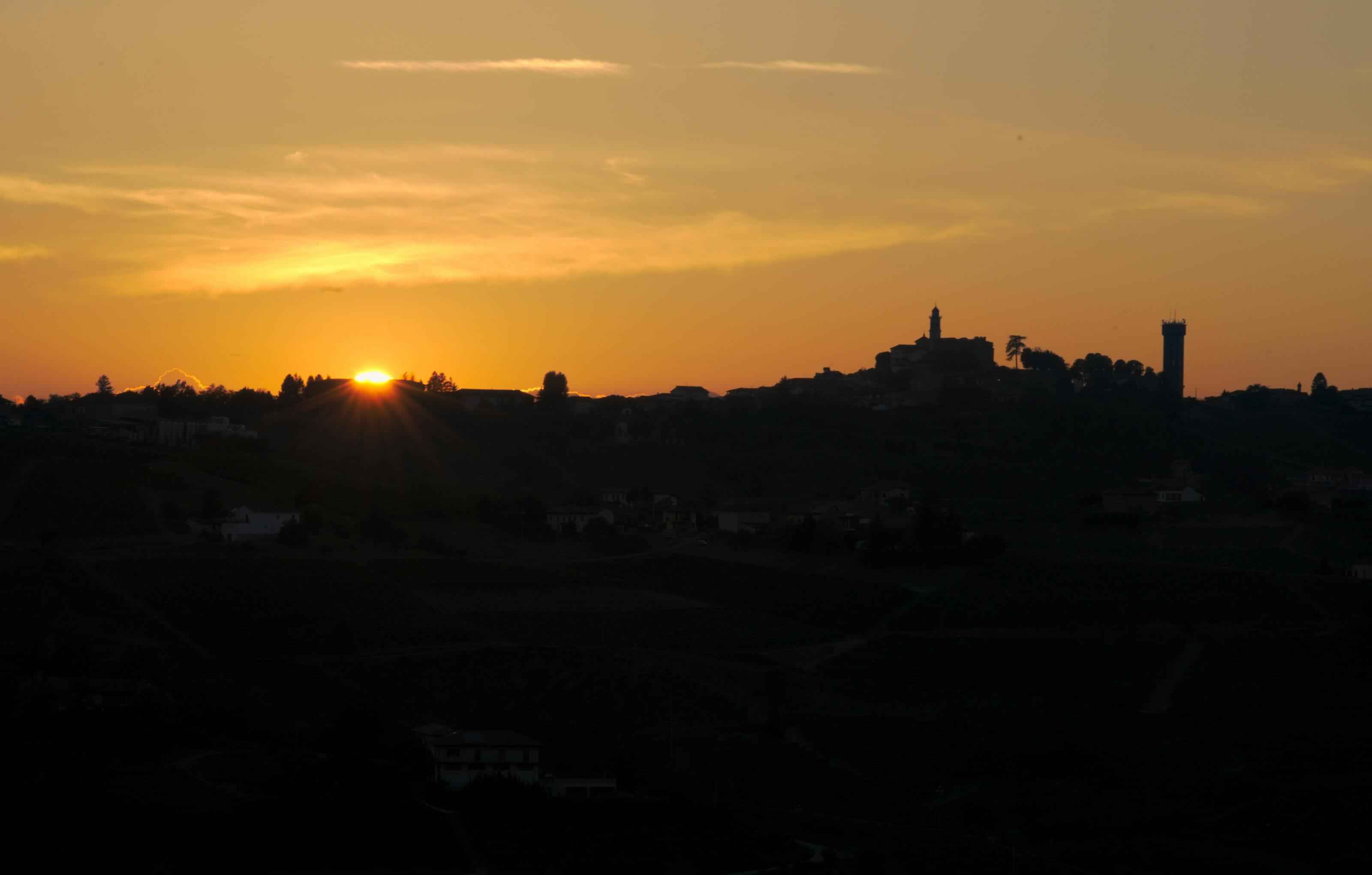 coucher de soleil piémont