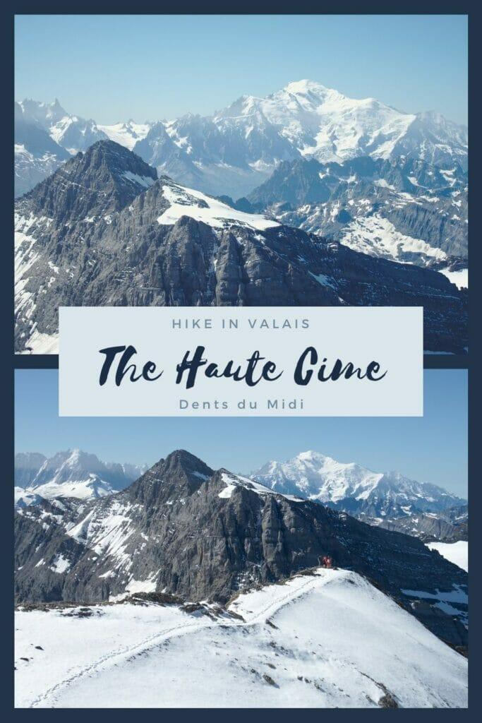 climbing Haute Cime Dents du Midi