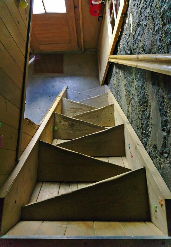 escalier dortoir