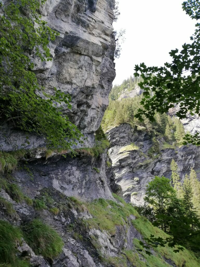 le roc coupé au dessus de Champery