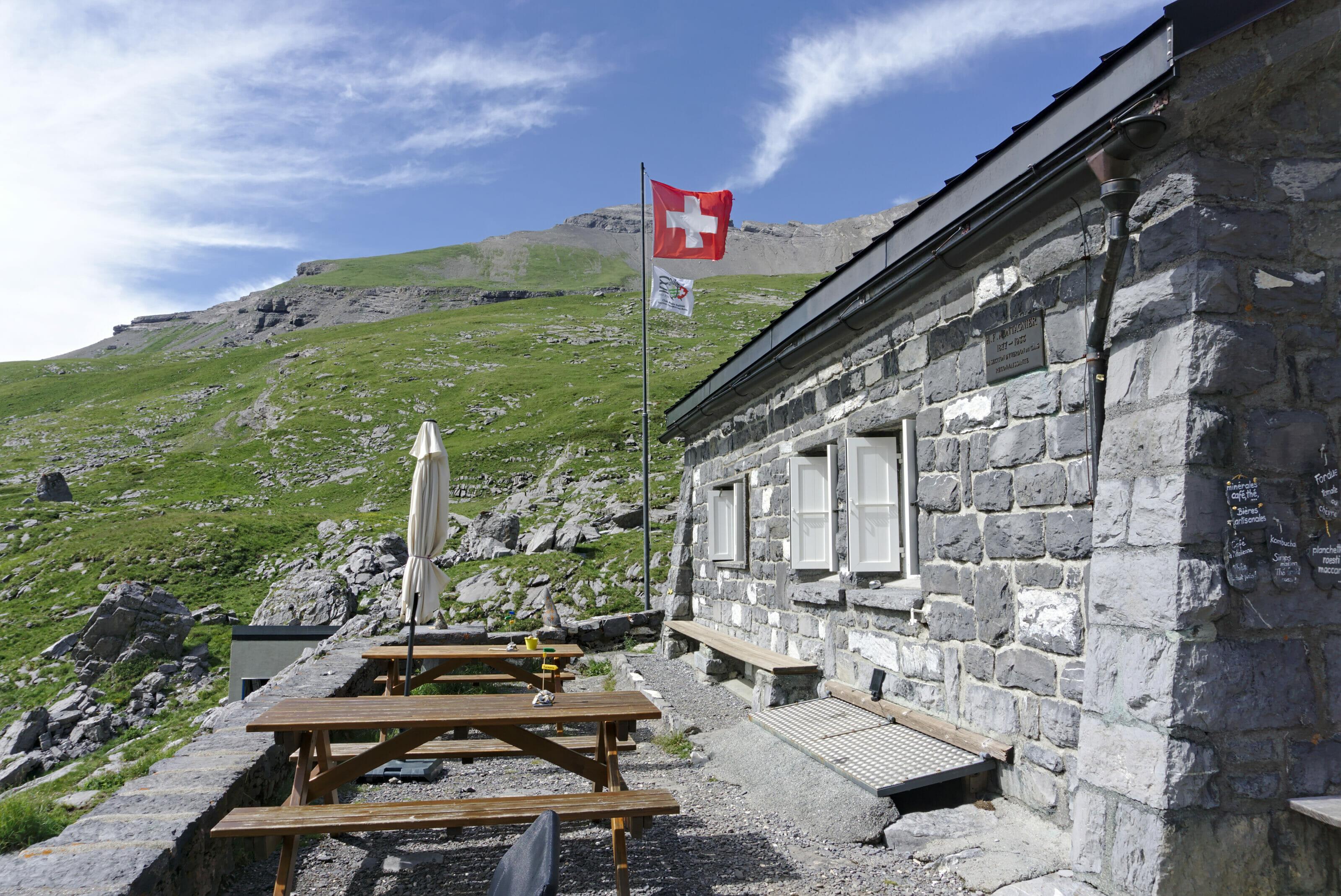 terrasse cabane suisse