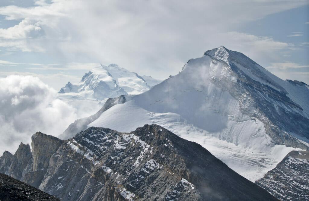 le Brunegghorn et le mont rose