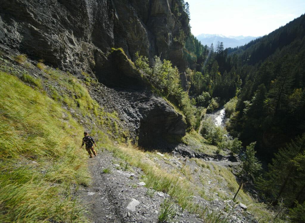 descente raide randonnée