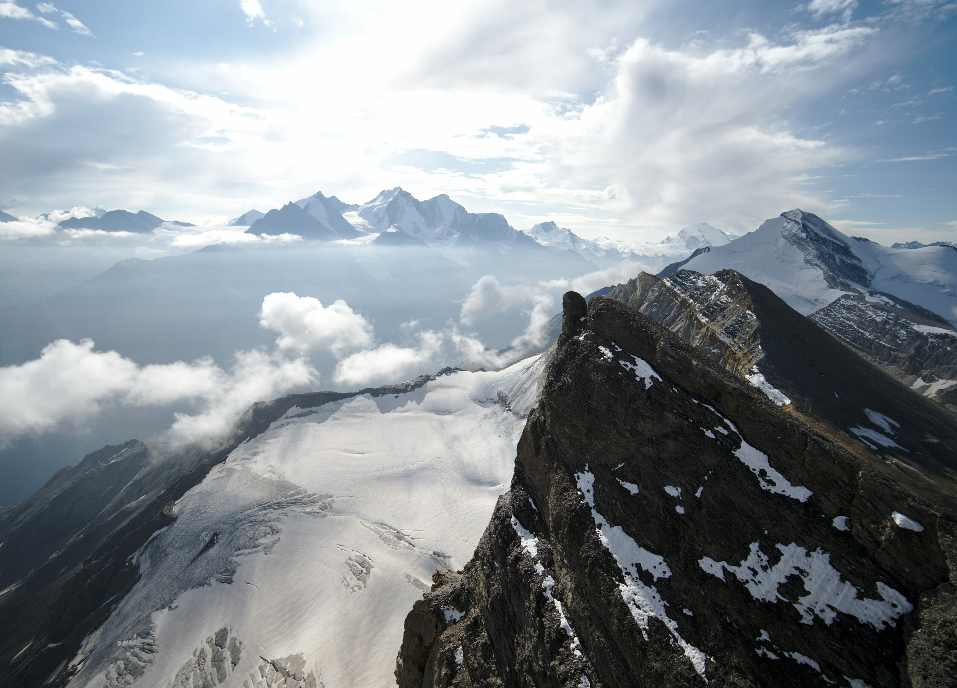 view at the top of Barrhorn