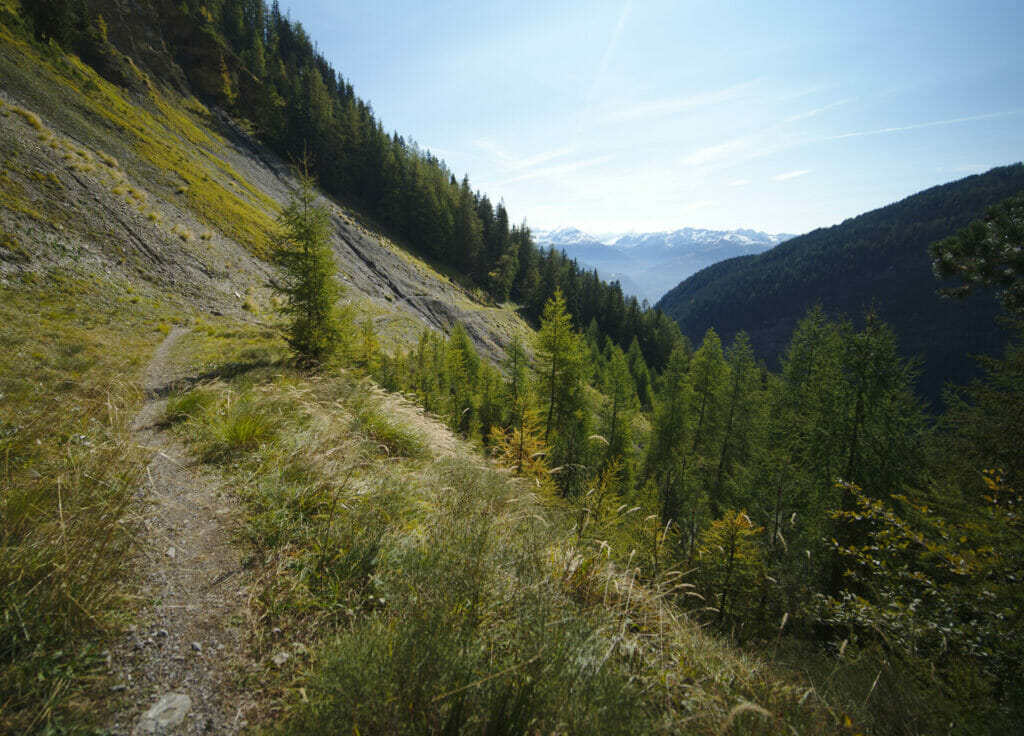 randonnée crans montana