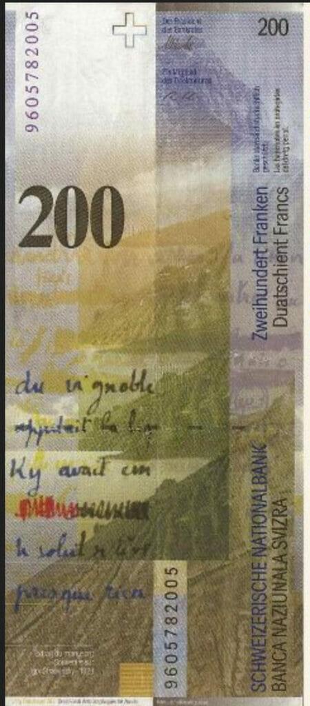 200 franc ancien billet