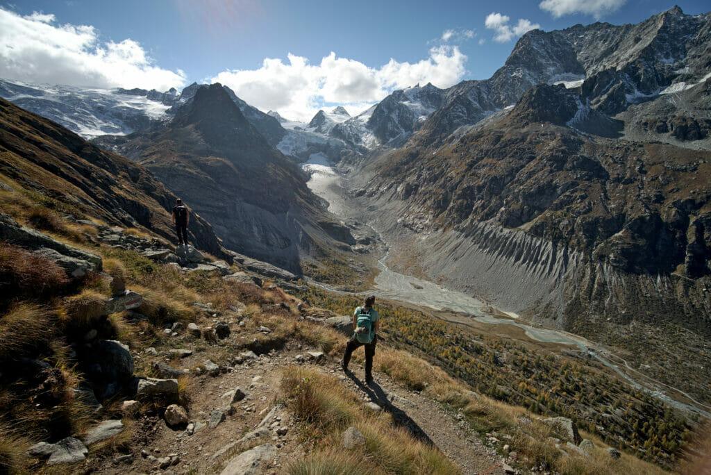 vue sur le glacier du Mont Miné Ferpècle