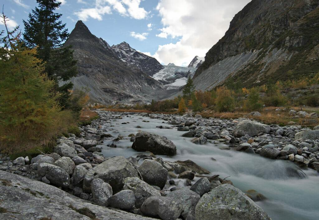 Ferpècle au pied des glaciers