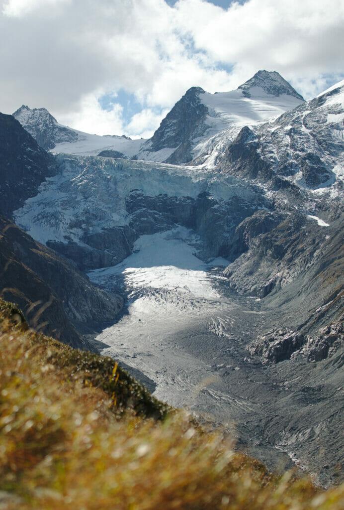 le glacier du Mont Miné au val d'hérens