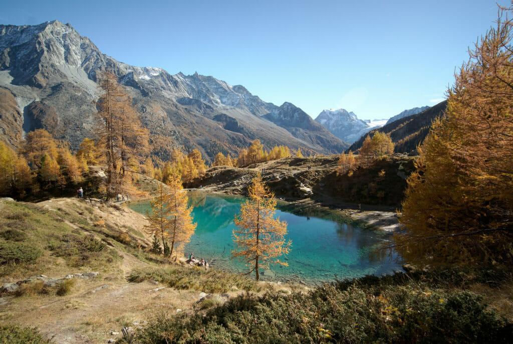lac bleu et vallée d'Arolla