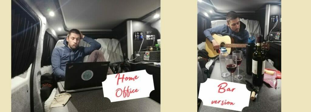 camper van office