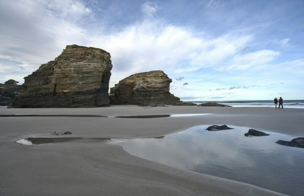 la plage des cathédrales en Galice