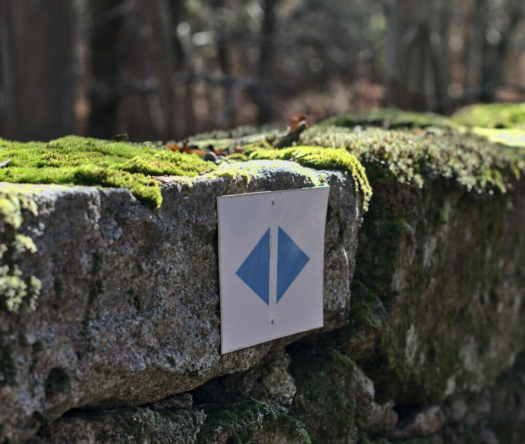 flèches bleues du sendeiro azul