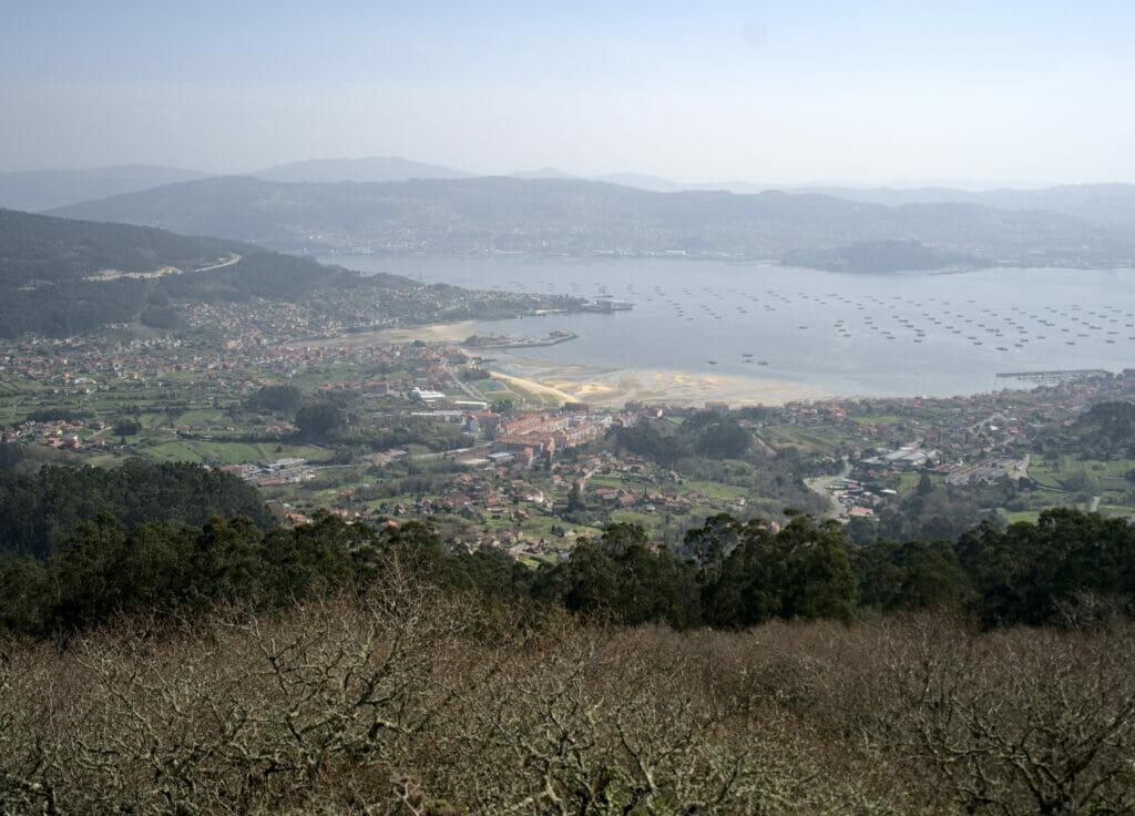 ria de Vigo depuis le mirador de Paralaia
