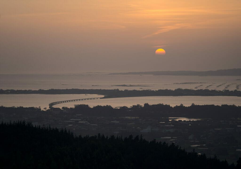 coucher soleil arousa