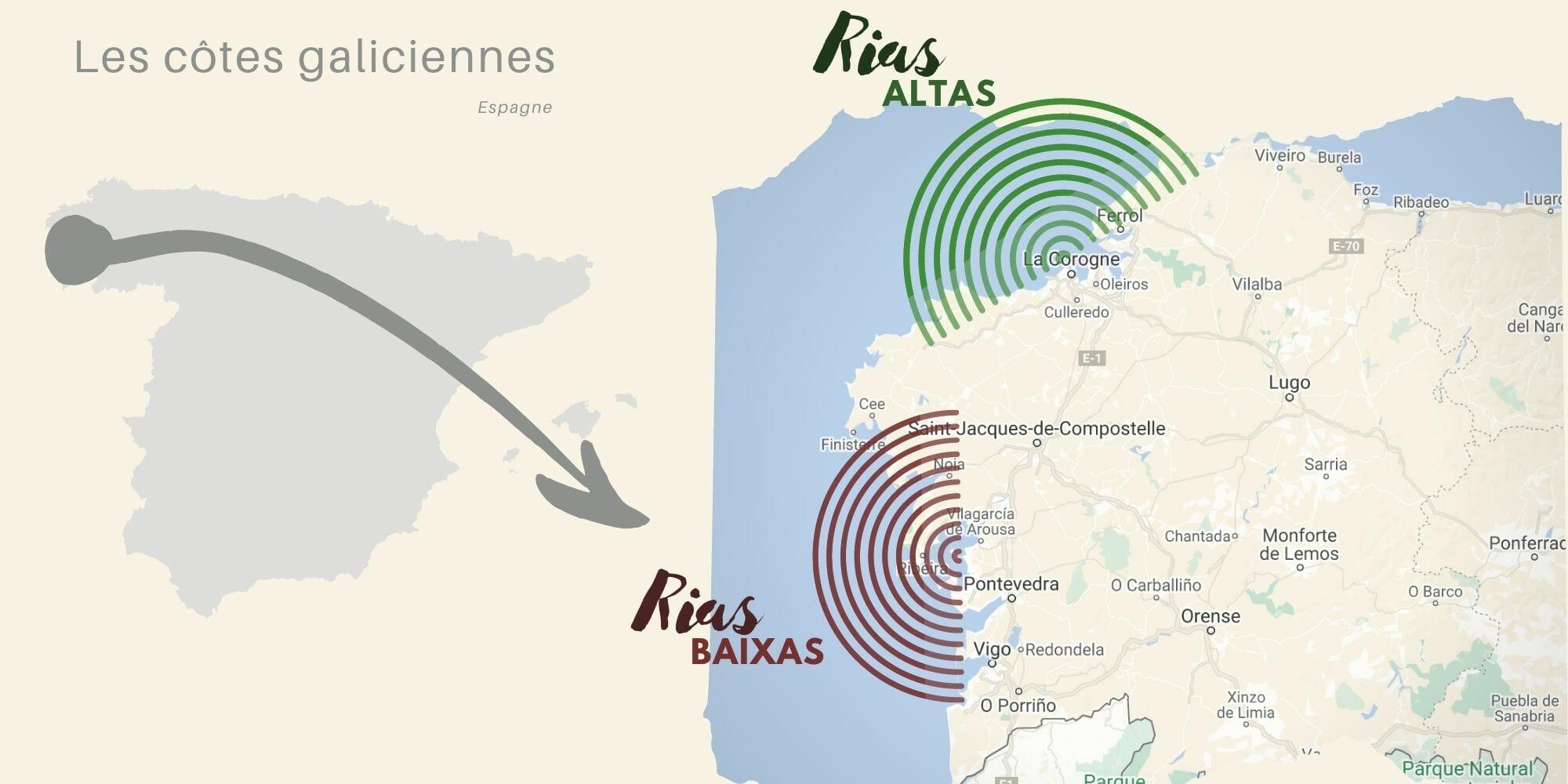 Rias altas et Baixas en Galice