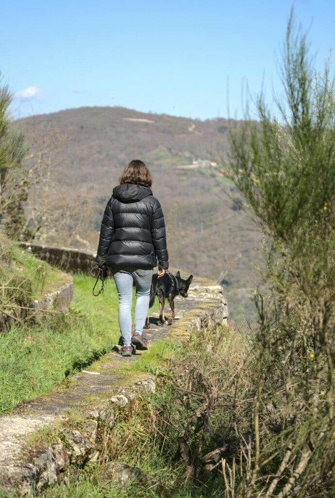 marcher sur le muret du canal