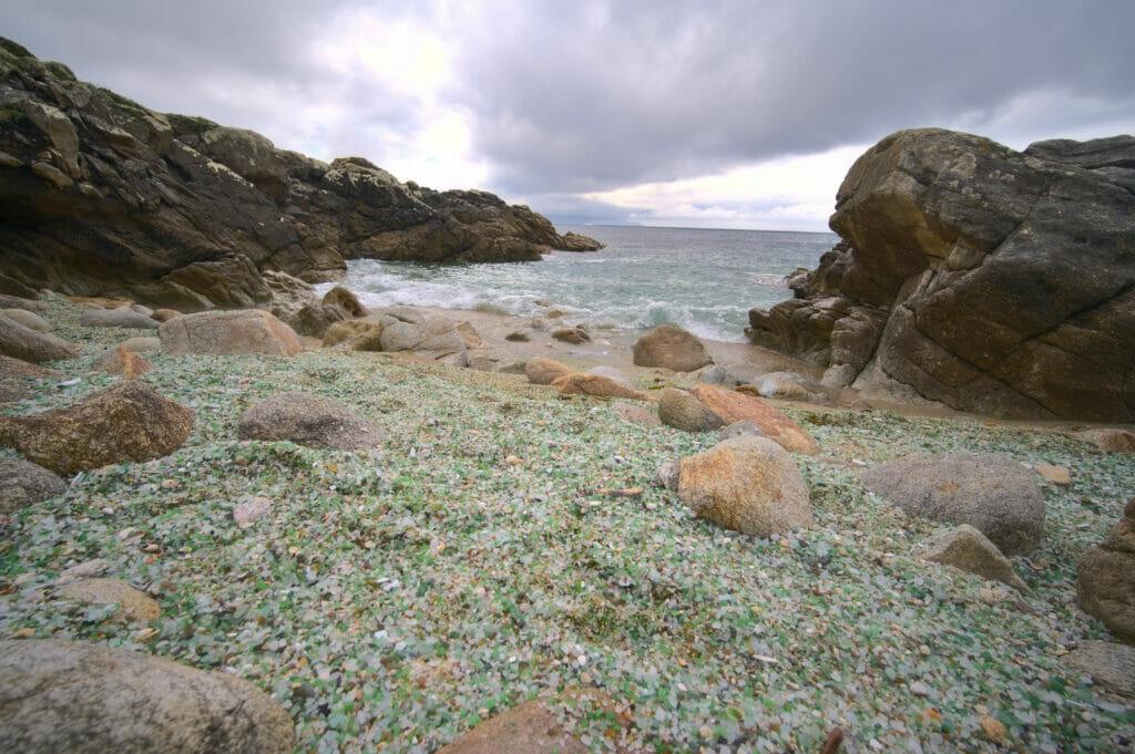 plage de verre galice