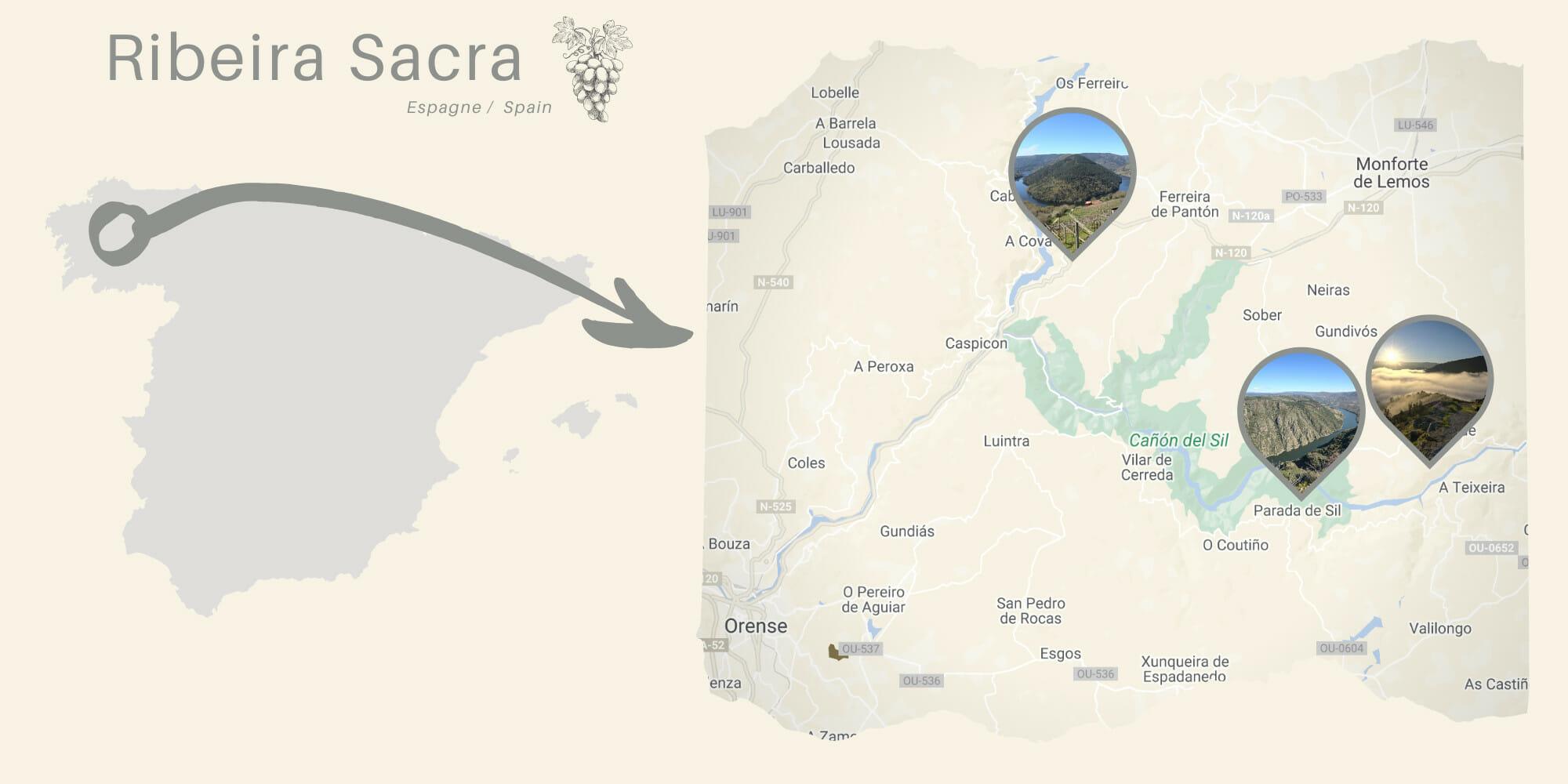 la Ribeira Sacra en Galice