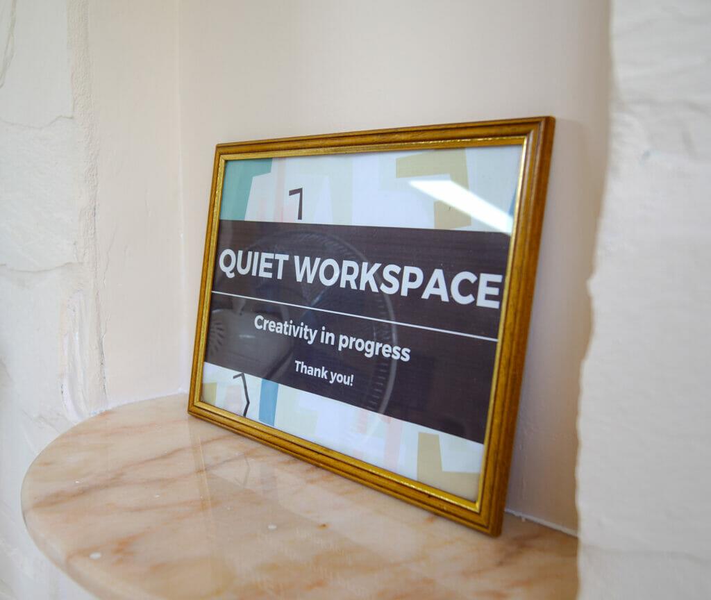 quiet workspace