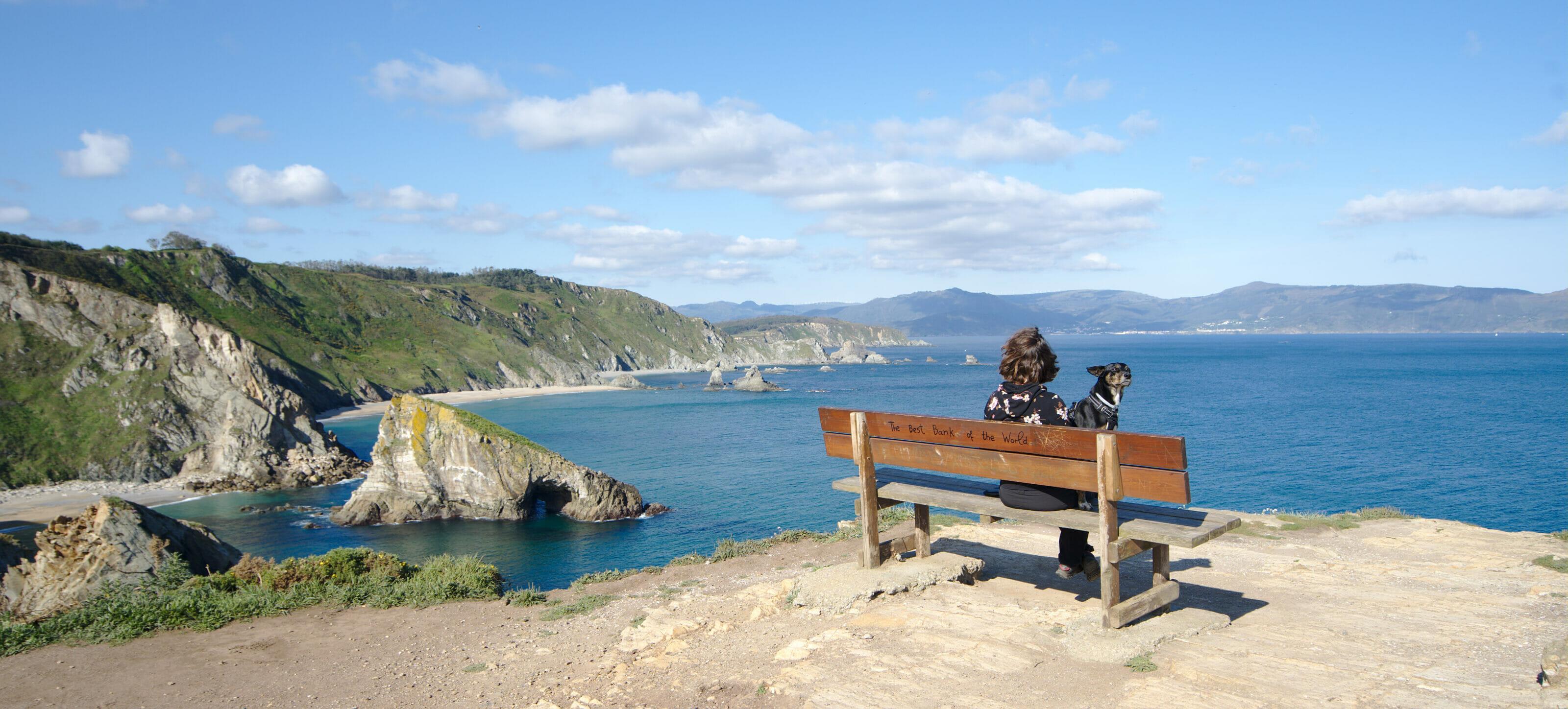 le meilleure banc du monde à Loiba dans les Rias Altas de Galice