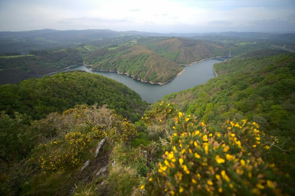 rio Eume depuis le mirador da Carbueira