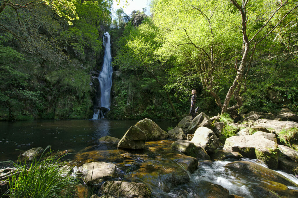 the waterfall Pozo da Ferida in Galicia