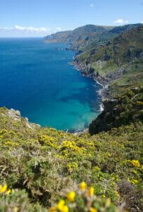 the cliffs of Rias Altas in Galicia