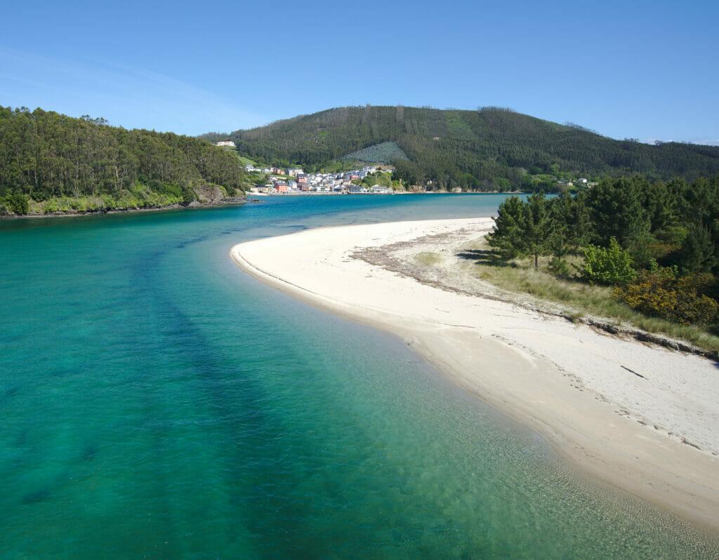the O Barqueiro ria in the rias altas north of Galicia