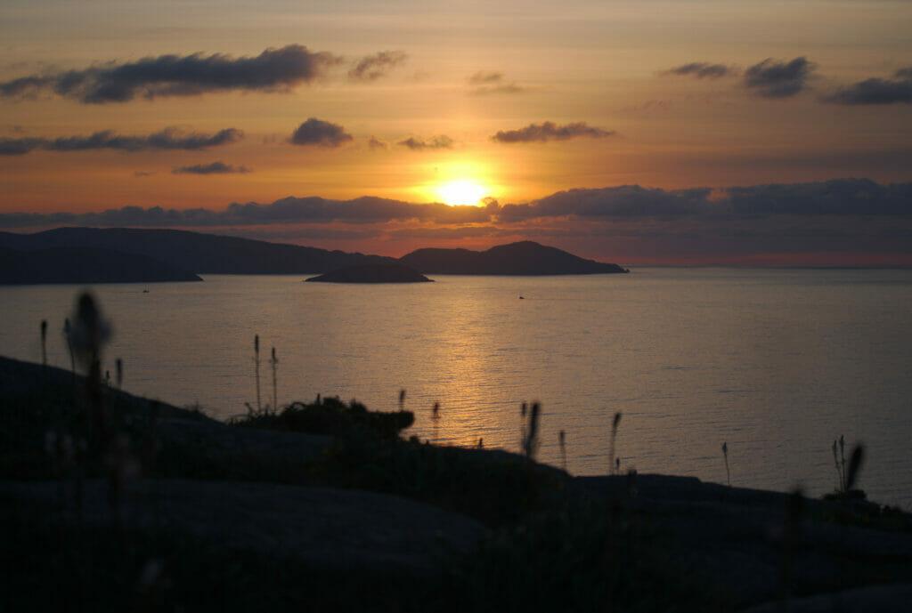 coucher de soleil nord de la Galice