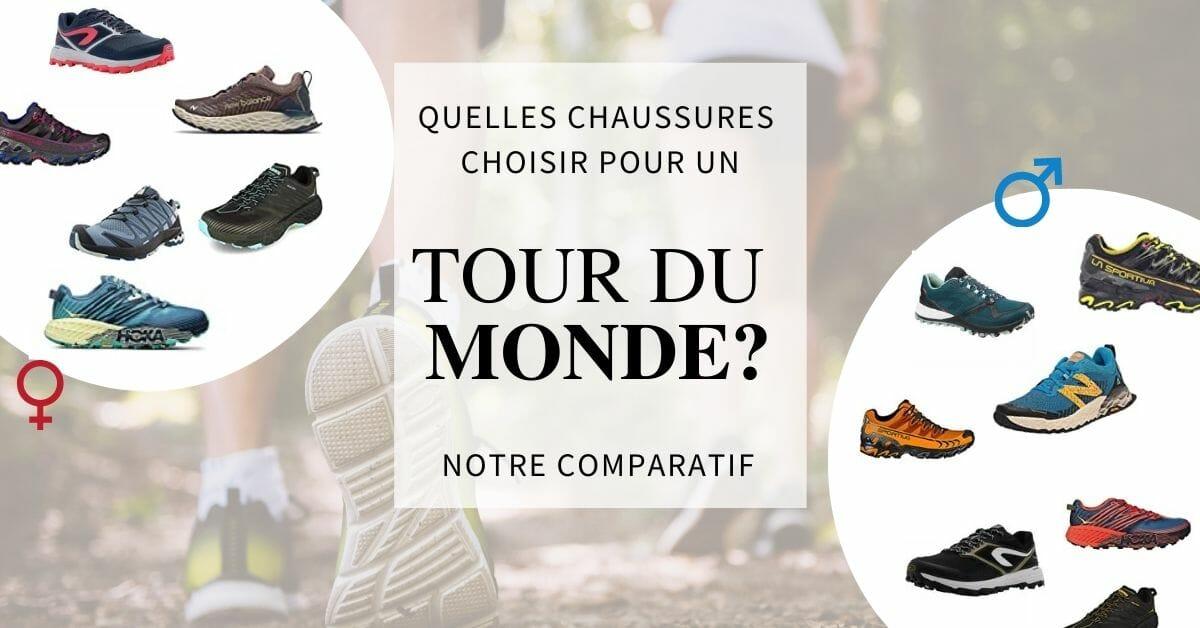 chaussures de trail pour un tour du monde