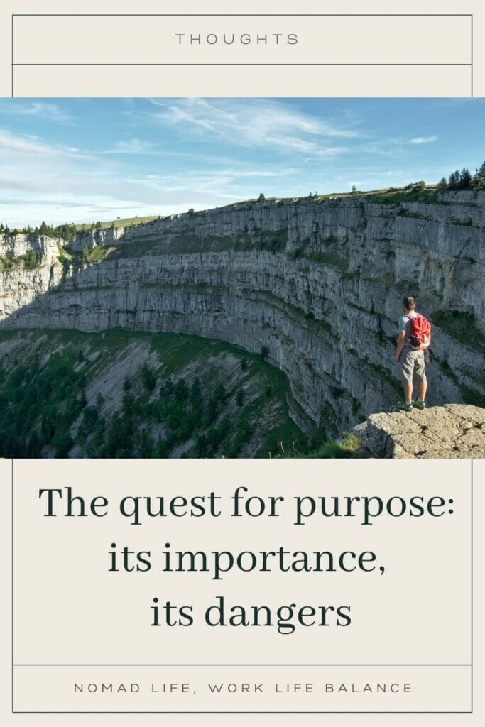 the quest for a purpose