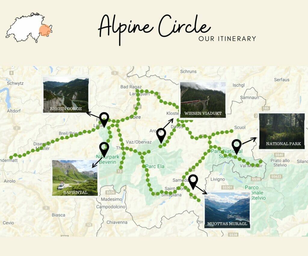 alpine circle itinerary