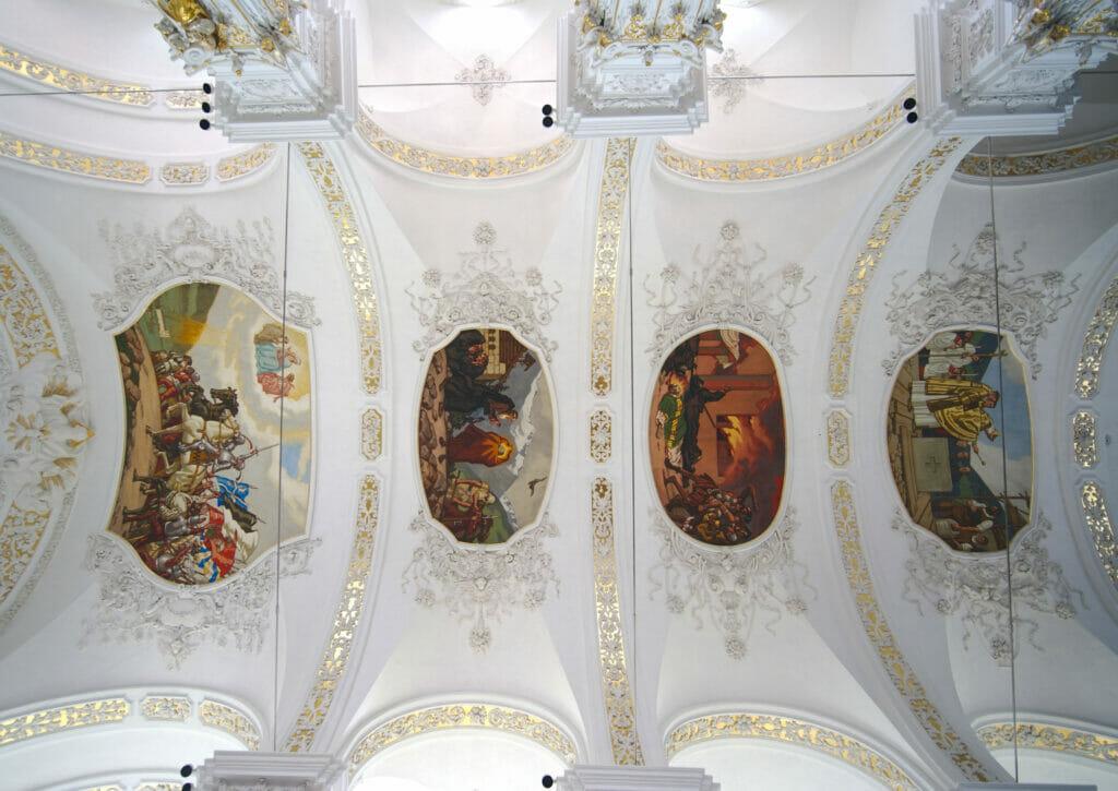 fresques abbaye de Disentis