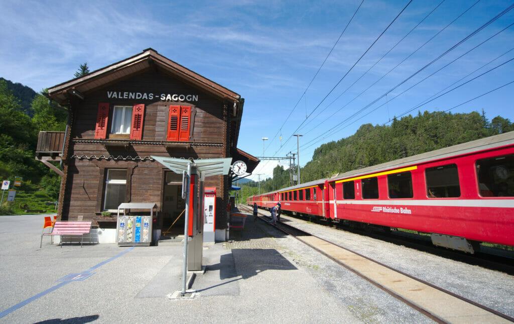 La gare de Valendas
