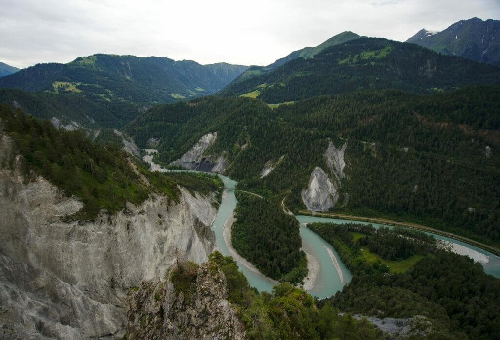 vue sur les gorges du Rhin depuis Il Spir