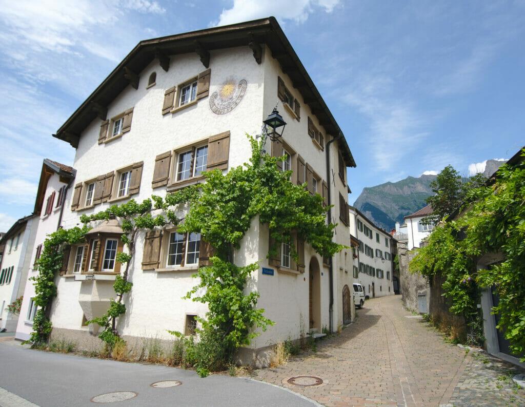 village de Maienfeld Grisons