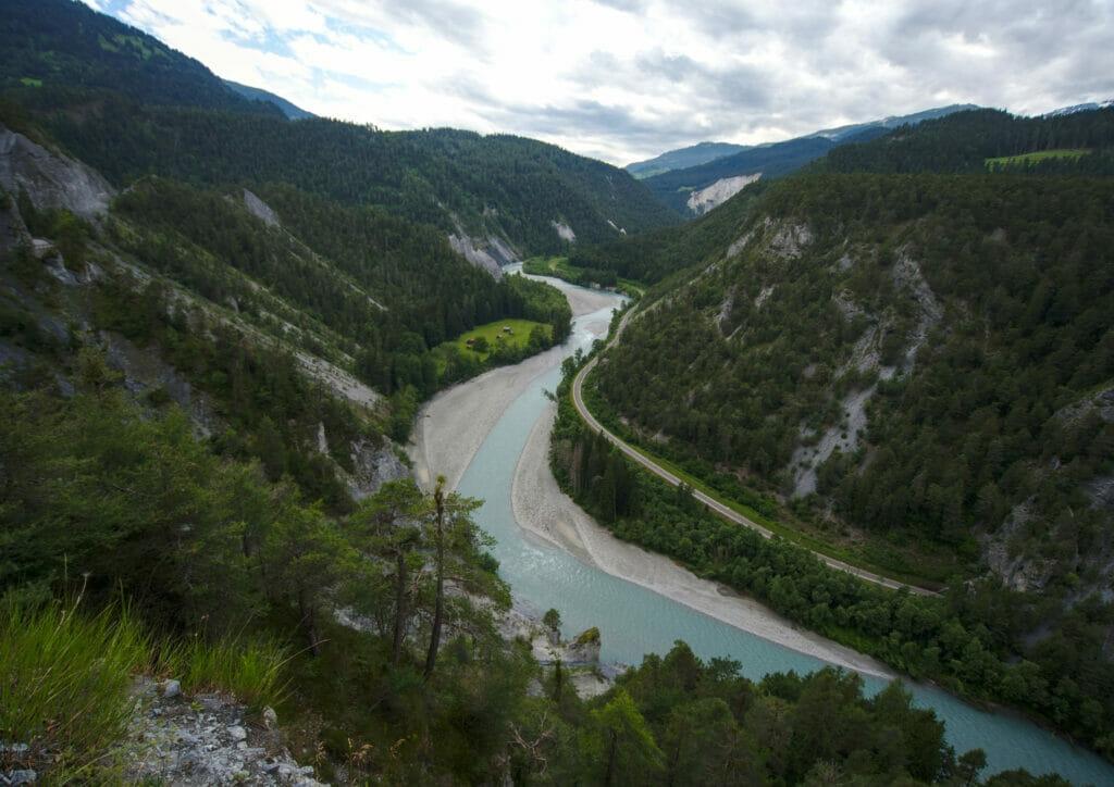 route des gorges du Rhin