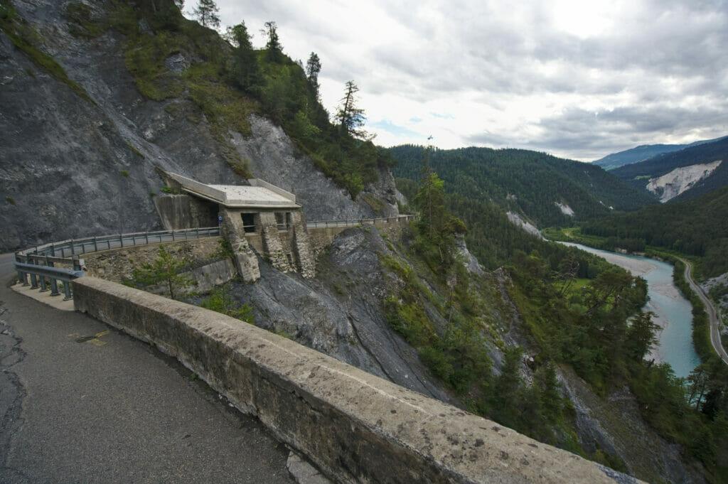 route Versam gorges du Rhin
